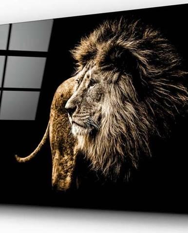 Skleněný obraz Insigne Majestic Lion,110 x70cm