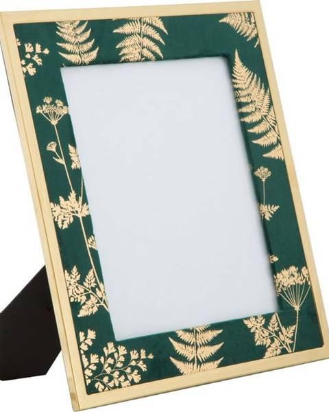 Mauro Ferretti Zeleno-zlatý stolní fotorámeček Mauro Ferretti Glam, 20x25cm