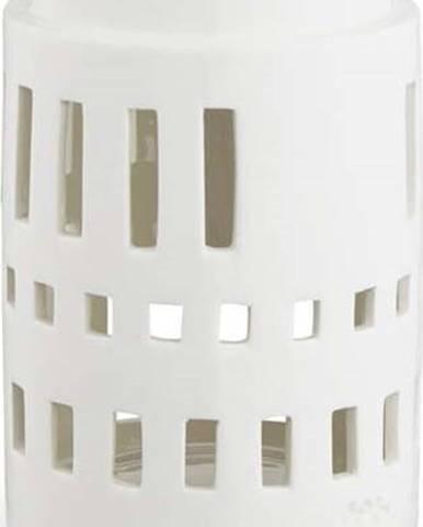Bílý keramický svícen Kähler Design Urbania Lighthouse Little Tower