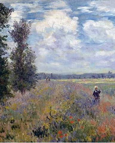 Reprodukce obrazu Claude Monet - Poppy Fields near Argenteuil, 40 x 30 cm