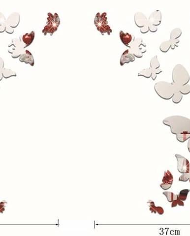 Sada 28 zrcadlových samolepek Ambiance Butterfly