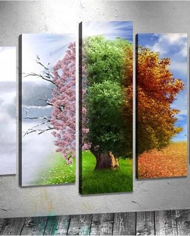 Sada 5 obrazů Tablo Center Seasons
