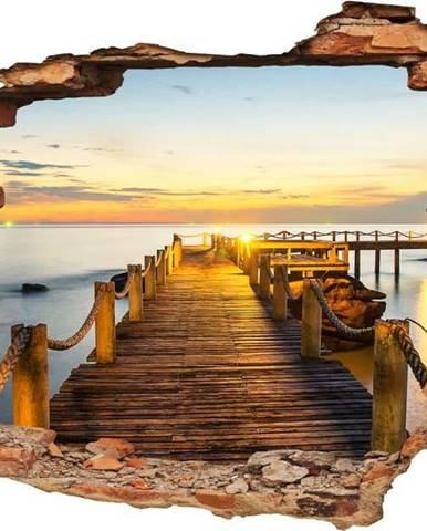 Samolepka Ambiance Landscape Dock and Sunset, 60 x 90 cm