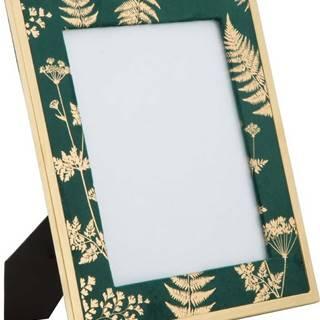 Zeleno-zlatý stolní fotorámeček Mauro Ferretti Glam, 20x25cm