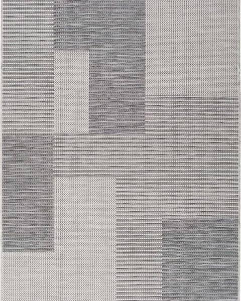 Universal Šedý venkovní koberec Universal Cork Squares, 115 x 170 cm