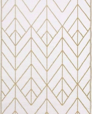 Béžovo-zlatý oboustranný venkovní koberec z recyklovaného plastu Fab Hab Sydney, 120 x 180 cm