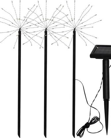Sada 3 venkovních solárních LED svítidel BestSeason Firework