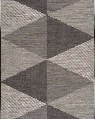 Šedý venkovní koberec Universal Biorn Grey, 77 x 150 cm