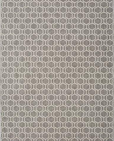 Šedý venkovní koberec Universal Clhoe, 140 x 200 cm