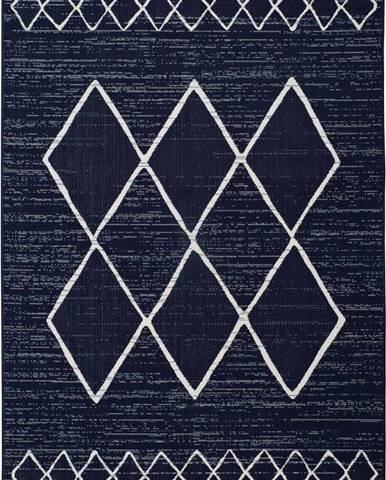Tmavě modrý venkovní koberec Universal Elba, 120 x 170 cm