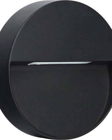 Tmavě šedé kruhové nástěnné svítidlo SULION Kamal, ø15cm