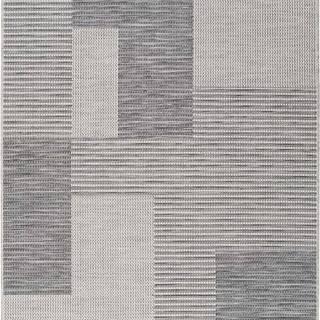 Šedý venkovní koberec Universal Cork Squares, 115 x 170 cm