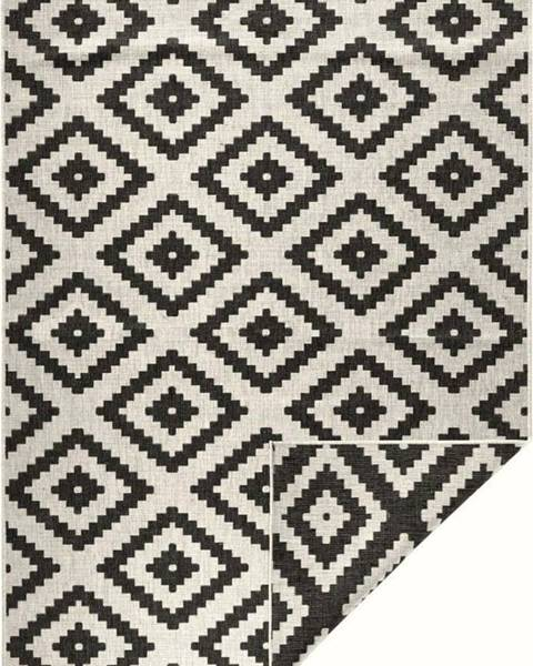 Bougari Černo-krémový venkovní koberec Bougari Malta, 160x230 cm