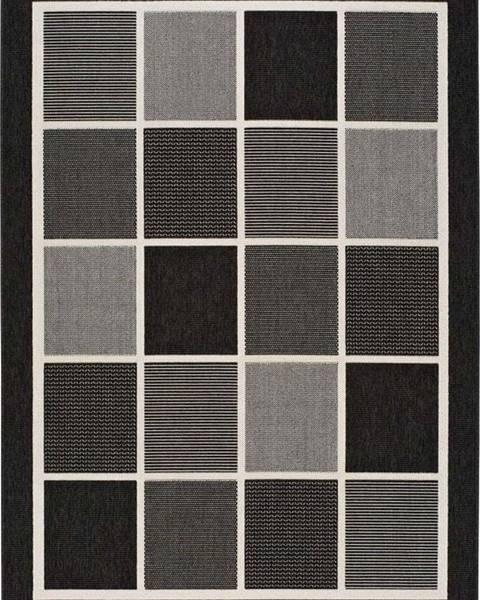 Universal Černošedý venkovní koberec Universal Nicol Squares, 160x230cm