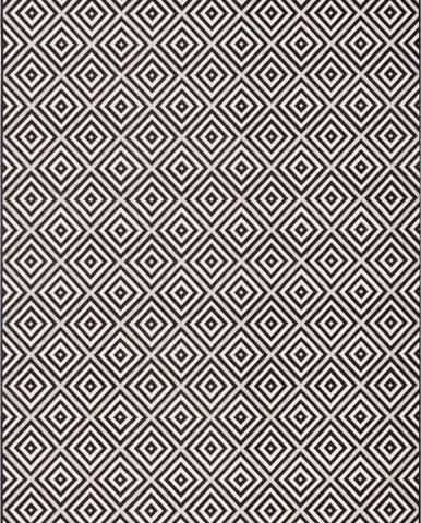 Černo-bílý venkovní koberec Bougari Karo, 140x200cm