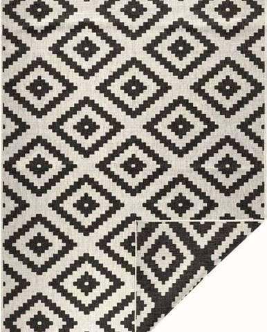 Černo-krémový venkovní koberec Bougari Malta, 160x230 cm