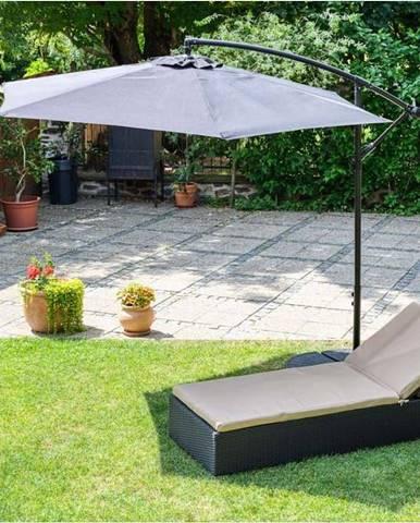 Černý slunečník bez podstavce Le Bonom Happy Sun, ø 300 cm