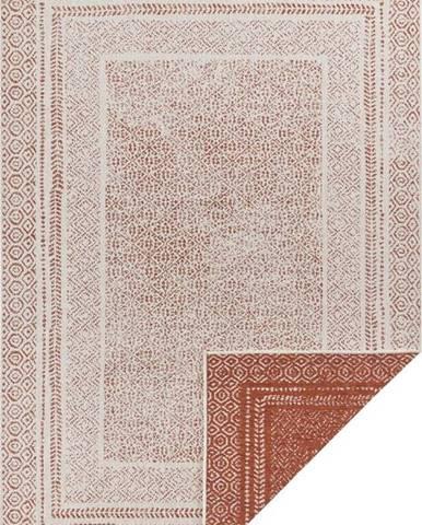 Oranžovo-bílý venkovní koberec Ragami Berlin, 80 x 150 cm