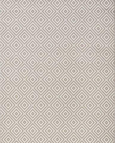 Šedý venkovní koberec Bougari Karo, 200x290cm