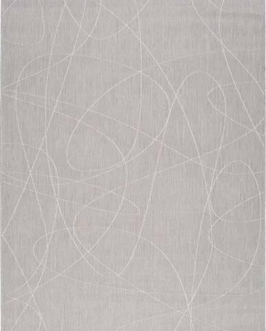 Šedý venkovní koberec Universal Hibis Line, 80 x 150 cm