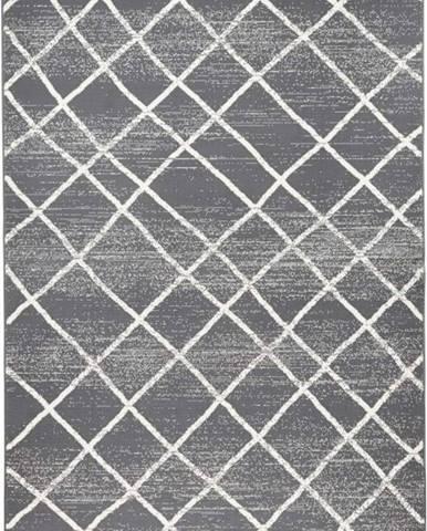 Tmavě šedý koberec Zala LivingRhombe, 200x290cm