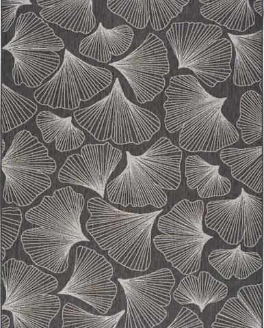 Tmavě šedý venkovní koberec Universal Tokio, 80 x 150 cm