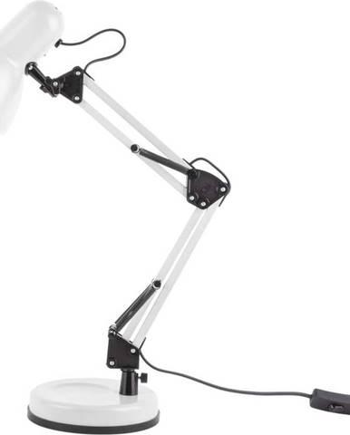 Bílá stolní lampa s černými detaily Leitmotiv Hobby,ø12,5cm