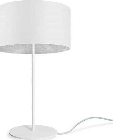 Bílá stolní lampa Sotto Luce MIKA Silver M,⌀36cm