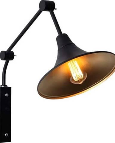 Černá nástěnná lampa Custom Form Miller, ø 25cm