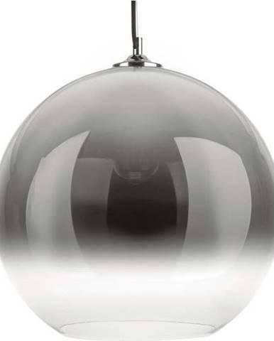 Šedé skleněné závěsné svítidlo Leitmotiv Bubble,ø40 cm