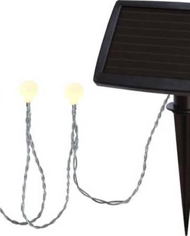 Venkovní solární světelný LED řetěz Best Season Balls, 20 světýlek