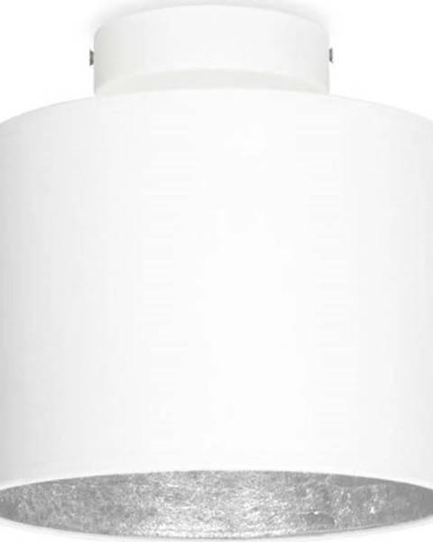 Sotto Luce Bílé stropní svítidlo s detailem ve stříbrné barvě Sotto Luce MIKA Elementary XS, ø 20 cm