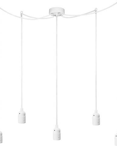 Bílé pětiramenné závěsné svítidlo Bulb Attack Uno Cassie