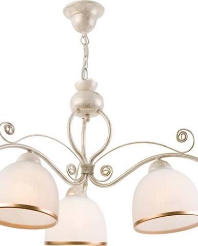 Bílé závěsné svítidlo pro 3 žárovky Lamkur Retro