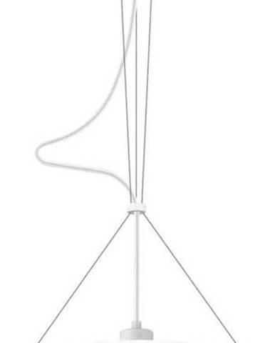 Bílé závěsné svítidlo Sotto Luce Momo Elementary S Glossy,⌀33cm