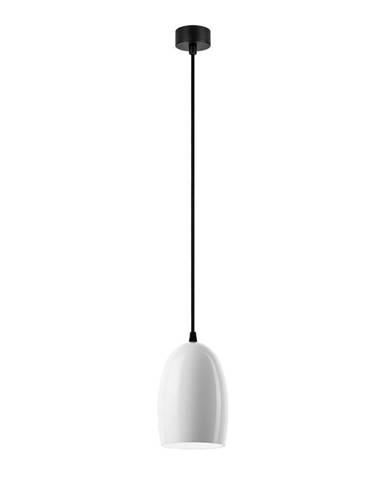 Bílé závěsné svítidlo Sotto Luce Ume S Glossy,⌀13,5cm