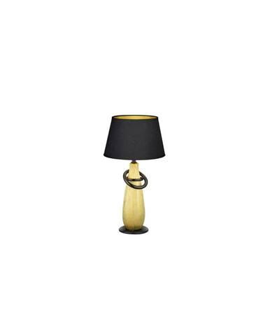 Černá stolní lampa z keramiky a tkaniny Trio Thebes, výška 38 cm