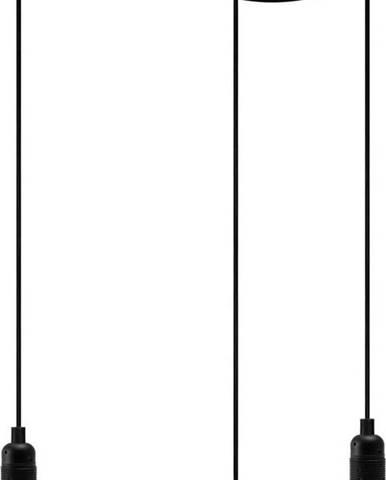 Černé tříramenné závěsné svítidlo Bulb Attack Uno Basic