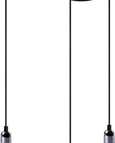 Černé tříramenné závěsné svítidlo s detaily ve stříbrné barvě Bulb Attack Uno Basic