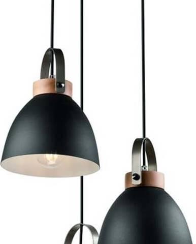 Černé závěsné svítidlo pro 3 žárovky Lamkur Danielle
