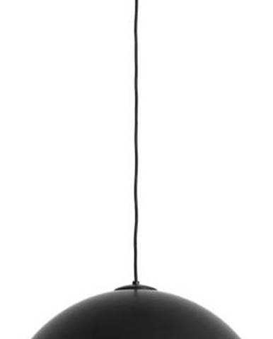 Černé závěsné svítidlo s detailem v měděné barvě Custom Form Lord, ø 50 cm