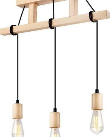 Dřevěné závěsné svítidlo pr 3 žárovky Lamkur Leon