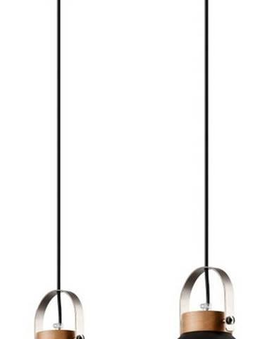 Grafitově černé závěsné svítidlo pro 2 žárovky Lamkur Danielle