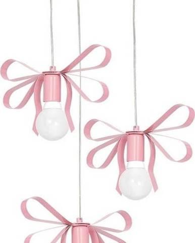 Růžové závěsné svítidlo Homemania Emma Tres