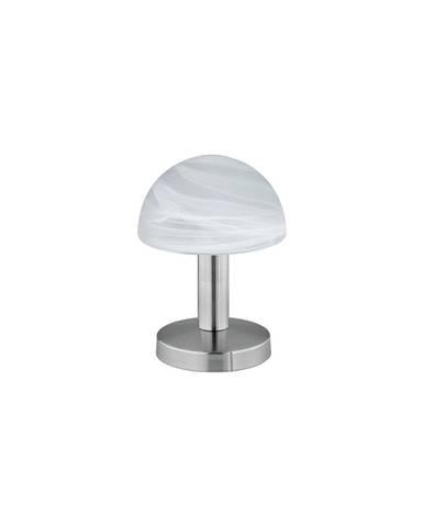 Stolní lampa ve stříbrné barvě Trio Fynn, výška 21 cm