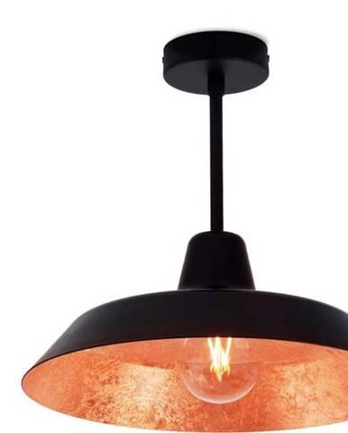 Stropní svítidlo v černé a měděné barvě Bulb Attack Cinco Basic