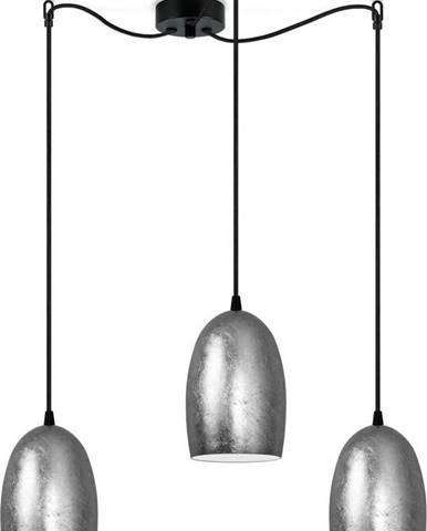 Tříramenné stropní svítidlo ve stříbrné barvě Sotto Luce UME Elementary S,⌀14cm