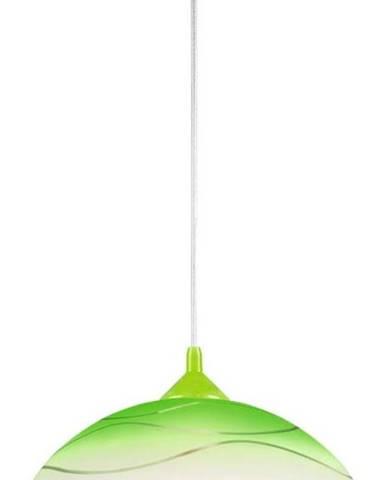 Zelené závěsné svítidlo Lamkur Waves