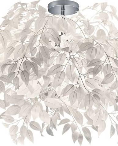 Bílé závěsné svítidlo Trio Pendant Leavy, výška 73 cm