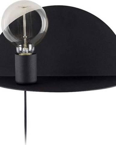 Černá nástěnná lampa s poličkou Homemania Decor Shelfie